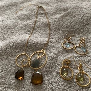Alexis Bittar necklaces and earrings.